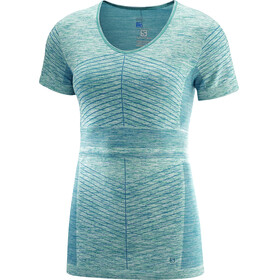 Salomon Elevate Move'On SS Tee Women Deep Lagoon/Waterfall